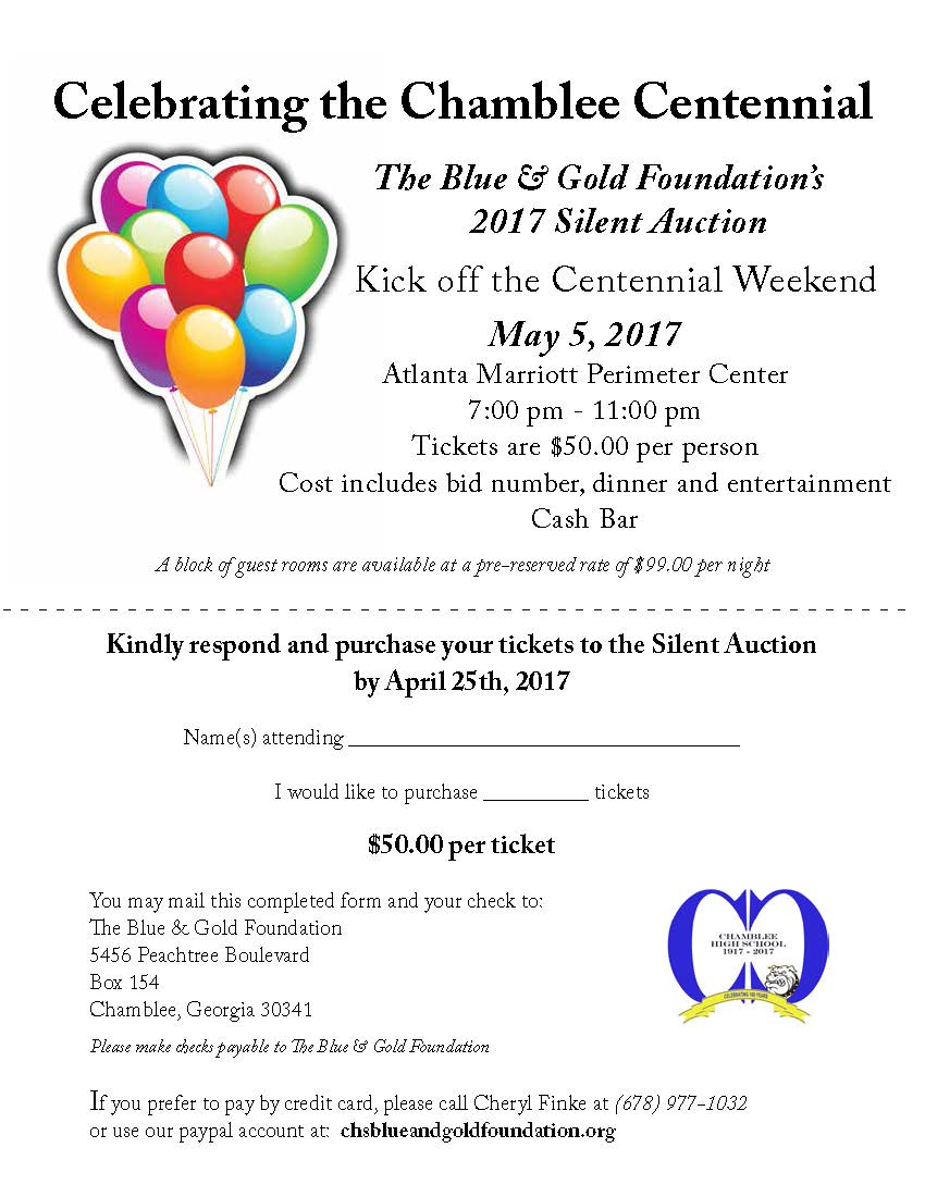Kickoff Party and Silent Auction – chsblueandgoldfoundation.org